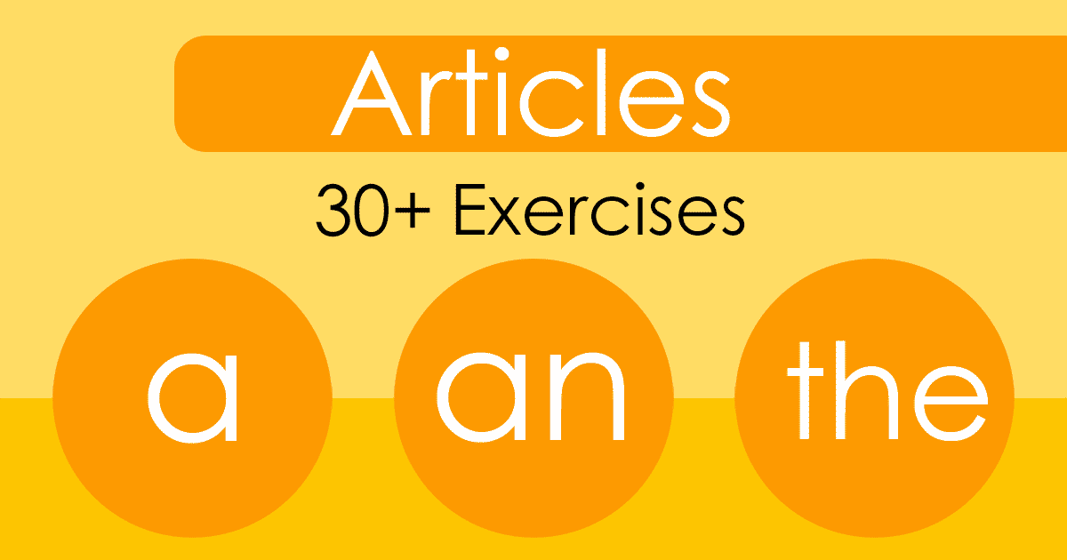Articles A, An, The | ENGLISH PAGE